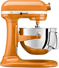 KitchenAid KP26M1XTG 6 Qt. Professional 600 Series Bowl-Lift Stand Mixer - Tangerine (RENEWED) CERTIFIED REFURBISHED