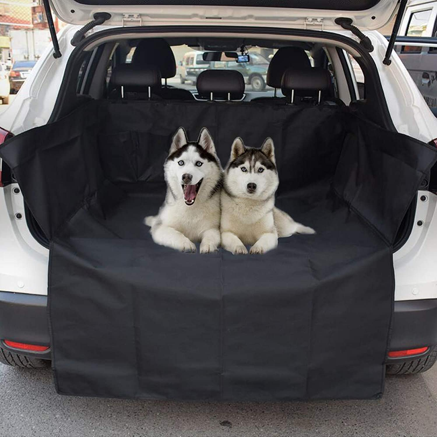 Bentolin Pet Cargo Cover & Liner for Dogs  Waterproof Washable & Nonslip Dog Car Seat Cover Universal Pet Seat Cover with Bumper Flap Predector for Cars, Trucks & SUVs
