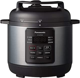 パナソニック 電気圧力鍋 時短なべ 3L ブラック「満水容量3L、調理容量2L」 (圧力、低温、無水、煮込、自動調理) SR-MP300-K...