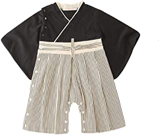 Children Japan Style Kimono Yukata Haori Traditional Japanese Boy Rompers Jumpsuit Asian Clothes Cosplay Samurai Kids Cost...