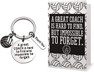 Volleyball Coach Keychain & Card Gift Set, Coach Gifts, Great Coach is Hard to Find But Impossible to Forget Coach Key Chain