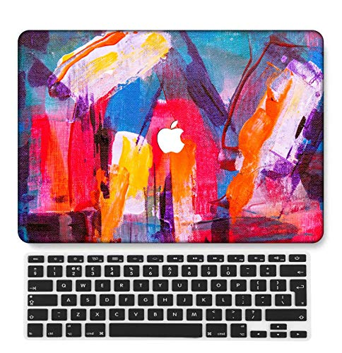 GangdaoCase Plastic Ultra Slim Light Hard Shell Case Cut Out Design Compatible New MacBook Pro 15 inch with Touch Bar/Touch ID with UK Keyboard Cover A1707/A1990 (Painting B 0519)