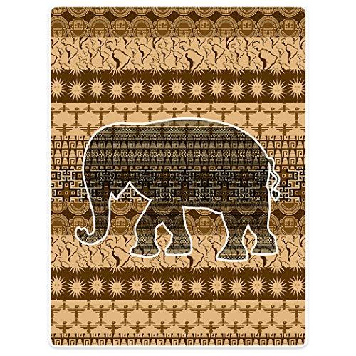 Violetpos Dick Couverture Douce en Flanelle pour canapé ou canapé Motif éléphant, Flanelle, Marron, 75 x 100cm
