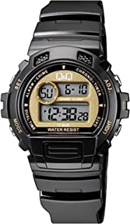 Q&Q Men'S Grey Dial Silicone Band Watch - M153J007Y