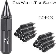Mallofusa 20Pcs Lug Nut Set Black 12X1.5 Extended Tuner Spike Lug Nuts Compatible for Honda Acura Toyota