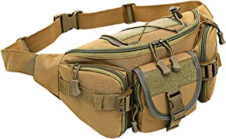 TACTICALGO Tactical Waist Pack Military Portable Fanny Pack Water Resistant Army Belt Bag for Daily Life Cycling Camping Hiking Hunting Fishing Shopping