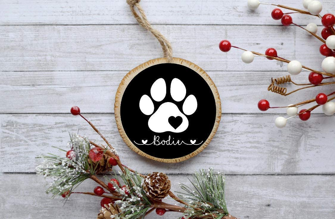 Christmas ornaments for dogs Wooden ornaments Naked Wood Works Personalized Christmas Ornaments dog ornaments Dog Christmas Ornaments