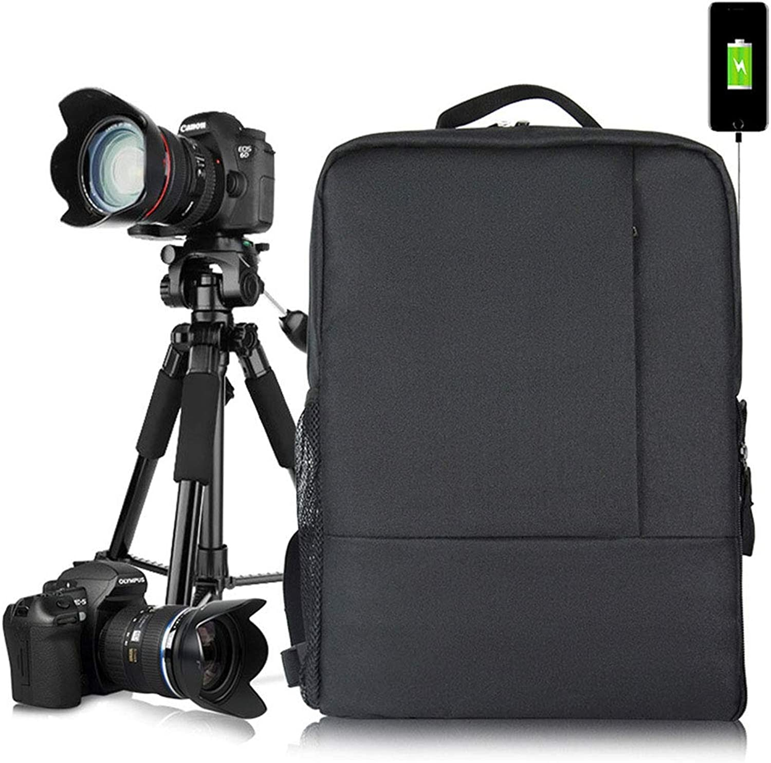 GuoBomatealliance Outdoor Bags Outdoor Bags PVC Multifunctional Travel Camera Backpackage with USB Charging Interface, Size  43  30  16cm (Camo) (color   color2)