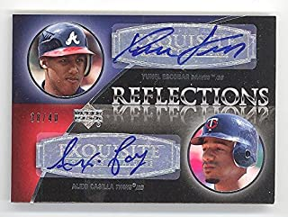 2007 Exquisite Collection Rookie Signatures Yunel Escobar/Alexi Casilla Reflections Autograph /40 (RC) Signed Dual Rookie Baseball Card #EC