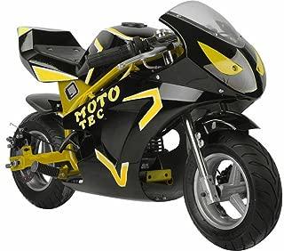 MotoTec Gas Pocket Bike GT 49cc 2-Stroke, Non Califonia Compliant, Yellow