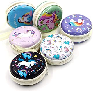 Artique Metal Tin Pouch for Earphone, Coins, Memory Card, Pendrive and Jewellery (Multicolor) - Pack of 3 (Random Prints)
