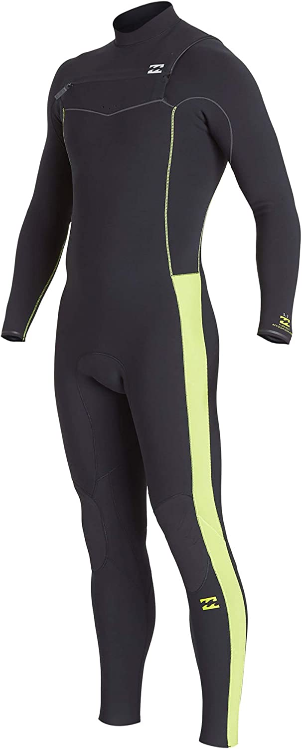 BILLABONG Mens Furnace Revolution Pro 4 3mm Chest Zip Wetsuit Grün Q44M06