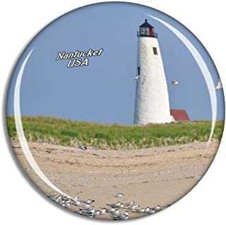 Weekino USA America Nantucket Great Point Lighthouse Fridge Magnet Travel Souvenir City Collection 3D Crystal Glass Gift S...