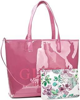 Dettagli su GUESS ROBYN EV718023 red rosso borsa shopping bag a spalla pelle saffiano