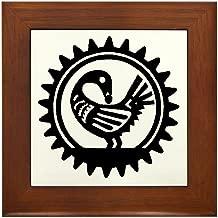 CafePress Sankofa Bird Framed Tile, Decorative Tile Wall Hanging