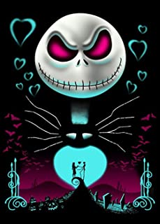 5D DIY Diamond Painting Jack Skellington 12X16 inches Full Round Drill Rhinestone Embroidery for Wall Decoration