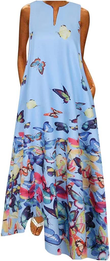 Hotkey Women Plus Size Dress Daily Cas Vintage Ranking TOP9 Printed Sales of SALE items from new works Butterfly