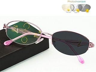 0c486b3844 Gafas de Lectura progresiva multifocal presbicia, Lentes de ovaladas  asféricas Fotocromáticas, Montura de Metal