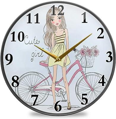 Bardic - Reloj de pared para bicicleta (funciona con pilas), color ...