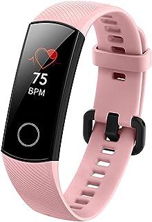 SHOUHUAN Pulsera Actividad, Reloj Inteligente Mujer Hombre con Pulsómetro Presión Arterial Pulsera Inteligente con Cronómetro Pulsera Podómetro Impermeable IP68 para Android iOSpink