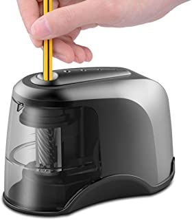 Electric Pencil Sharpener, Heavy-duty Helical Blade, Batteries Operated , Ideal for No. 2 and Colored Pencils , Perfect fo...