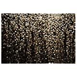 Allenjoy 7x5ft Durable Fabric Gold and Black Bokeh Spots Photography Backdrop Abstract (Not Glitter) Background for Selfie Birthday Party Pictures Photo Booth Graduation Dance Vintage Studio