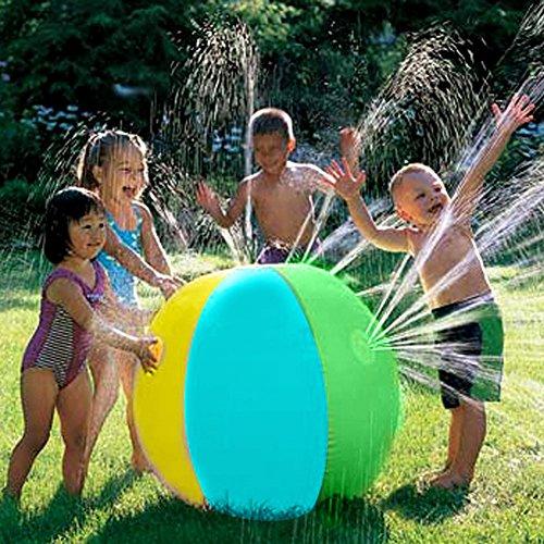 Leiyini Aufblasbare Wasser Spray Ball Kinder Wasser Sprinkler Spielzeug Sommer Outdoor Fun Spielzeug Ideal für Garten, Hinterhof Aktivitäten & Partys (B)