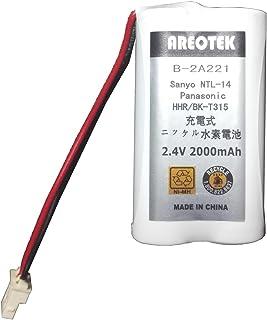 【通話時間2.5倍】サンヨー NTL-14 コードレスホン 子機 充電池 【Areotek出品】