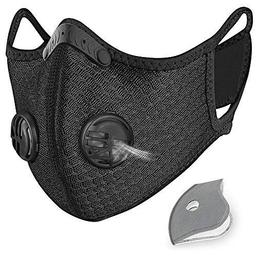 HASAGEI Sport Maske Trainingsmaske Trainings Atemmaske Radfahren Laufen Outdoor Gesichtsmaske Starter Training Maske für Männer und Frauen zum Radfahren Camping Outdoor (Black)