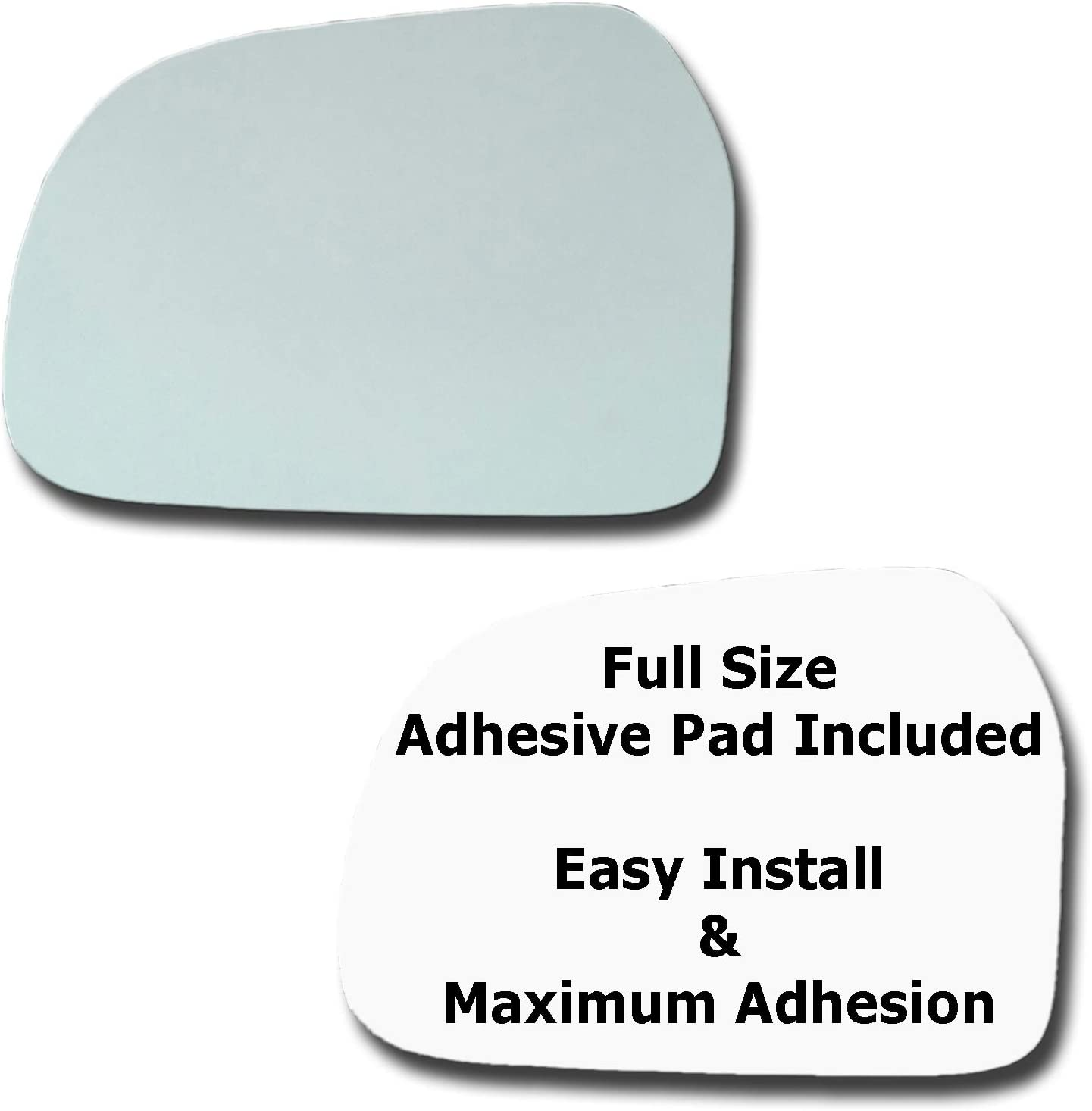 Mirror Glass + Full Size Very popular Boston Mall Adhesive for 1999-2004 Chevrolet Pad Tr