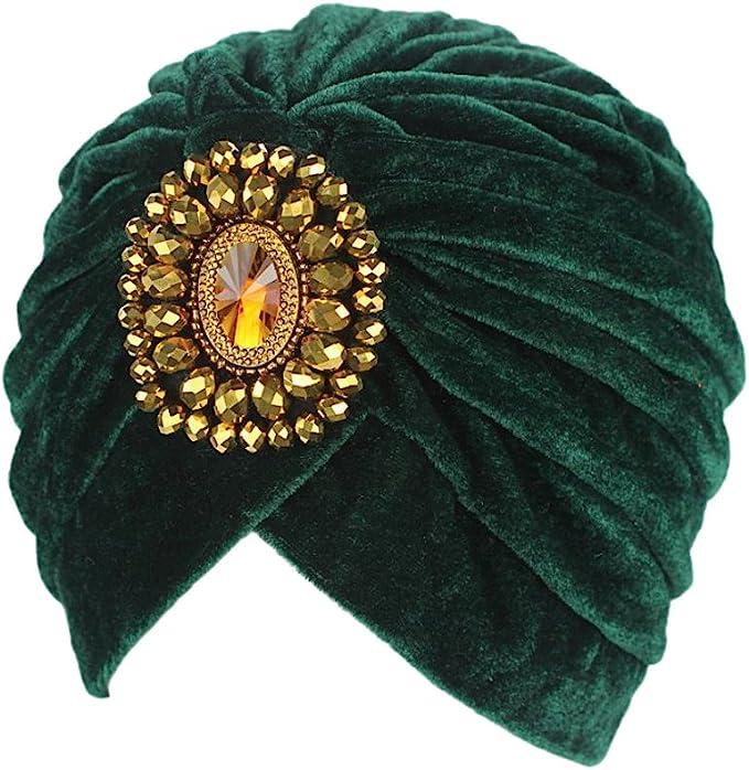 1920s Accessories: Feather Boas, Cigarette Holders, Flasks DECOU Twist Pleated Hair Wrap Stretch Turban 0545  AT vintagedancer.com