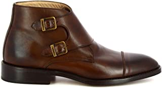 LEONARDO SHOES Luxury Fashion Mens 43VITELLOBROWN Brown Ankle Boots | Season Permanent