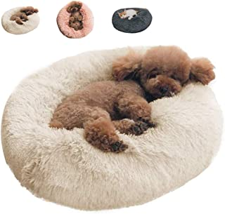 BinetGo Dog Bed Cat Bed Cushion Bed Faux Fur Donut Cuddler for Dog Cat Joint-Relief and Improved Sleep � Machine Washable, Waterproof Bottom