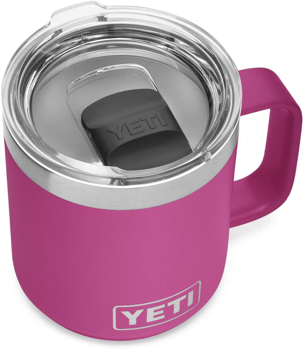 YETI Rambler 10 oz Stackable Mug, Vacuum Insulated, Stainless Steel with MagSlider Lid, Prickly Pear