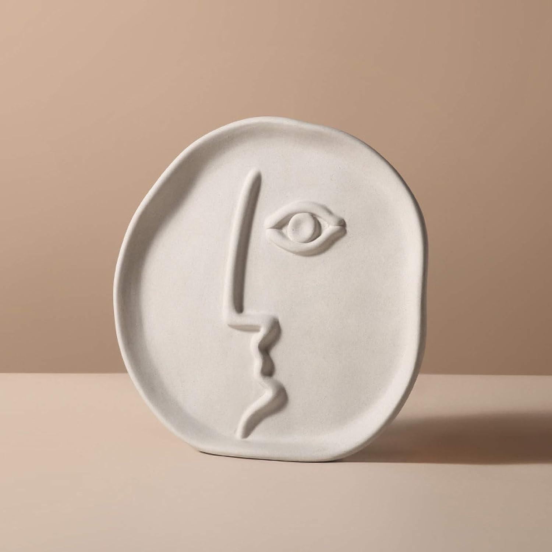 KKONION Abstract Human Face Flower V Elegant Ceramic アイテム勢ぞろい 限定タイムセール Design Vase