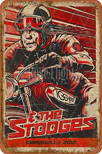 Rose Flight THE STOOGES Retro Metal Tin Sign Decoration Poster Used For Bars Barbecue Shops Farmhouses Kitchens Houses Wall Decoration 20 * 30 Cm Retro Decoration Gifts.