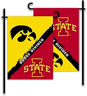 NCAA Iowa-Iowa State 2-Sided Garden Flag-Rivalry House Divided
