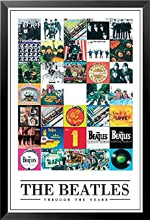 Buyartforless Framed The Beatles Through The Years -35 Album Covers 36x24 Music Art Print Poster