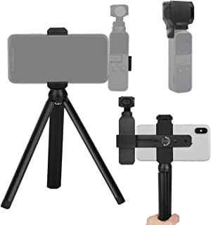 FEPITO 2 Pcs Accessories Set for OSMO Pocket, Handheld Phone Holder Tripod Mount Stand Set and Camera Gimbal Protector Cov...