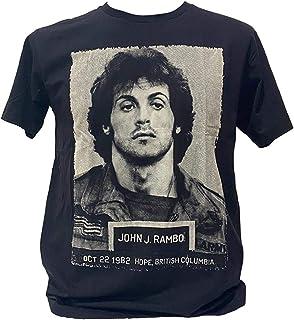 シルヴェスター スタローン ランボー ロッキー Sylvester Gardenzio Stallone Tシャツ インナー バンド Tシャツ メンズ レディース ロック 黒 ブラック [並行輸入品]