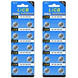 LiCB 20個 SR927SW ボタン電池 時計用【SR927sw、395、LR927、AG7、399、LR57、SR927相当品】