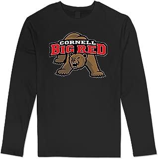 Men's Cornell University Casual Long Sleeve Tee Black