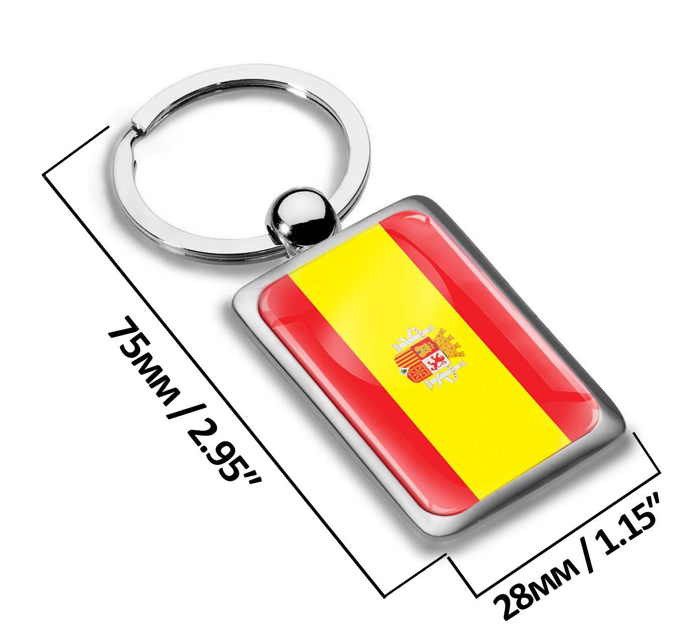 Biomar Labs® Llavero de Regalo 3D Metal con Diseño de Bandera de ...