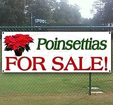Poinsettias for Sale 13 oz Heavy Duty Vinyl Banner with 4 Grommets