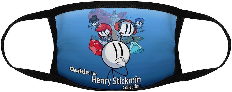 Henry Stickmin Men Women Face Mask Washable Reusable Balaclava Bandanas Comfortable Breathable Safety Mouth Cover