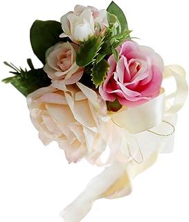 18627c3f8 non-brand Sharplace Encaje de Flor de Seda para Casamiento Adorno de Coche  - Champán