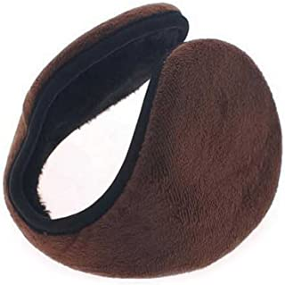 CHUANGLI Winter Warm Kint Fleece Earmuffs with Thick Plush Earwarmer Adjustable Warp for Men Women