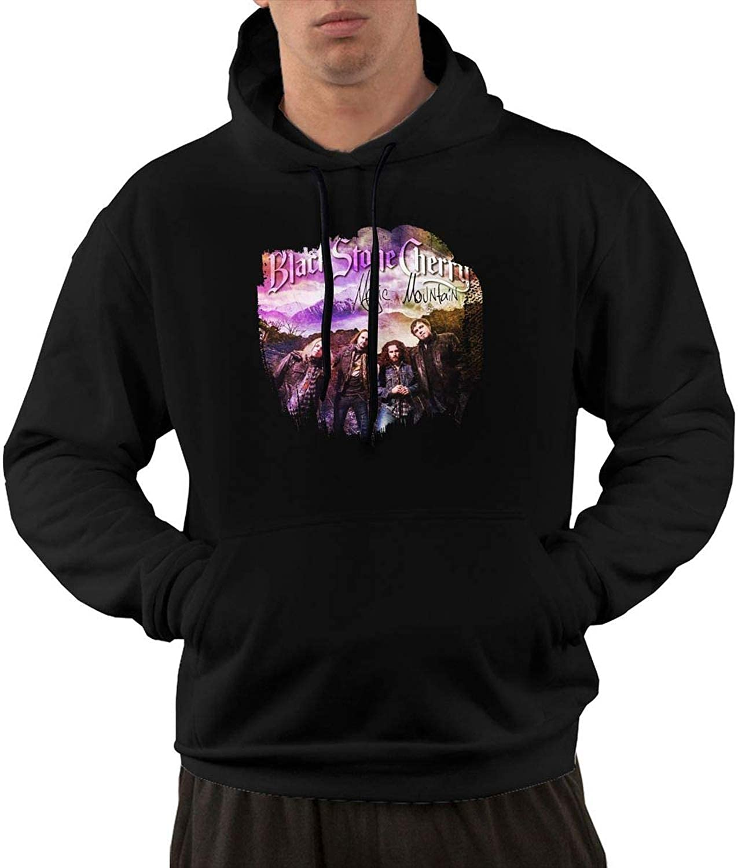 To-night Black Stone Cherry Magic Mountain Mens Hoodies Hooded Hooded Hooded Sweatshirt with Pocket Black 9c0f47