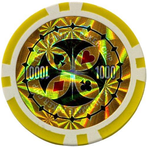Ultimate Black Edition Pokerset, 300 hochwertige 12 Gramm METALLKERN Laserchips, 100% PLASTIKKARTEN, 2x Pokerdecks, Alu Pokerkoffer, 5x Würfel, 1x Dealer Button, Poker, Set, Pokerchips, Koffer, Jetons - 6