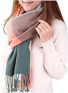 UMIPUBO Sciarpa Donna Inverno, donna inverno scialle maglione cappotto Girl grandi Tartan Wrap Maglia Scialle Inverno Donn...